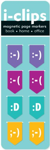 Emoticons i-Clips Magnetic Bookmarks