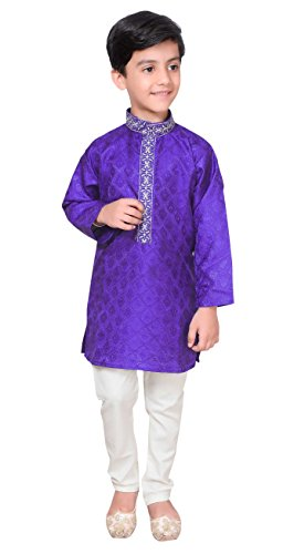 Boys Sherwani Kurta Pajama Bollywood Creation Mehendi 942 (0 (6 months to 1 yrs), Blue) by Desi Sarees