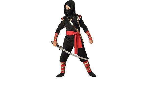 Disfraz Ninja para niño -Premium - 6 - 7 años (M): Amazon.es ...