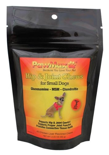PawMax Hip and Joint Chews for Small Dogs- Dysplasia and Arthritis Pain Relief for Dogs Plus Free Gift, My Pet Supplies