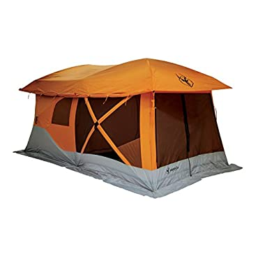 Gazelle 26800 T4-Plus Pop-Up Portable Camping Hub Tent, Orange, 4-8 Person