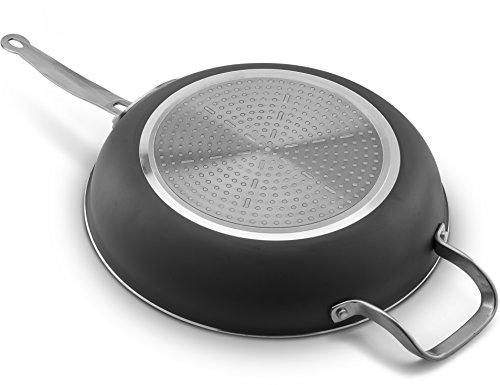 Ceramic Amp Titanium Non Stick Frying Pan With Lid 12 Inch