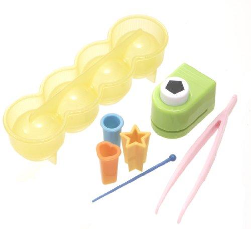 Sushi Press Wooden (Torne Soccer Shape Rice Ball Maker, Sushi Press Mold/Nori Punch Cutter/Tweezers/Food Pick)
