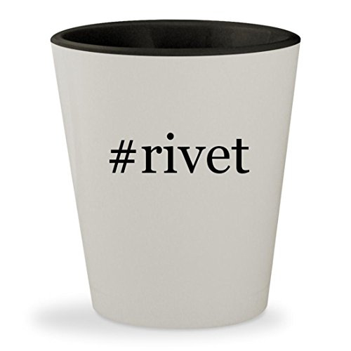 Price comparison product image #rivet - Hashtag White Outer & Black Inner Ceramic 1.5oz Shot Glass