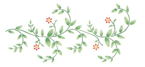 Delta Creative Stencil Magic Decorative Stencil, 8.25 by 18-Inch , 95-662 Delicate Vine - Border Flower Stencil