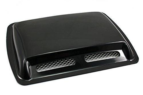 NEVERLAND Car Decorative Air Flow Intake Scoop Turbo Bonnet Vent Cover Hood Black (Hood Scoop Air)