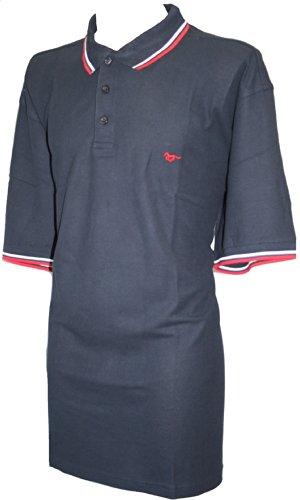 Espionage Herren Poloshirt Blau Marineblau