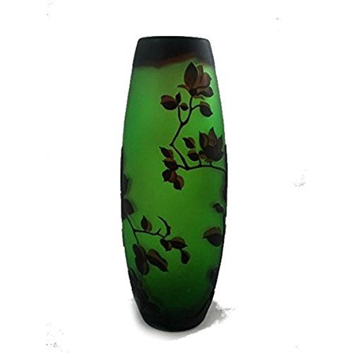 - Manhattan Chic Antiquity Collection Etched Glass Convex Vase 13.5