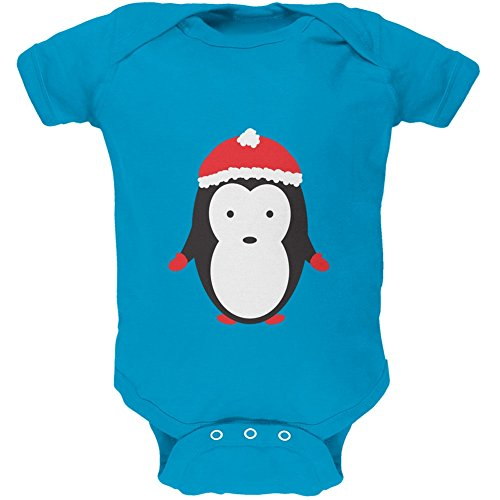christmas-cute-penguin-turquoise-soft-baby-one-piece-6-month