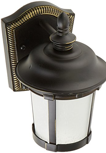 Maxim 86096FSBZ Dover EE 1-Light Outdoor Wall Lantern, Bronze Finish, Frosted Seedy Glass, GU24 Fluorescent Fluorescent Bulb , 60W Max., Damp Safety Rating, Standard Dimmable, Glass Shade Material, 1344 Rated Lumens