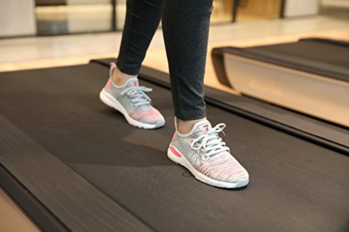Unisex Zanyeing Laufschuhe Mesh Bequem Sportschuhe Ultra-light Freizeitschuhe Atmungsaktives Gym Turnschuhe Fitness 36-48 Grau