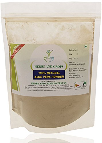 Herbs And Crops 100% Pure Natural Organically Grown Aloe Vera Powder (227g / (1/2 lb) / 8 ounces)