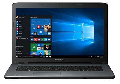 MEDION AKOYA P7645 43,9 cm (17,3 Zoll Full HD) Notebook (Intel Core i5-7200U, 8 GB RAM, 1 TB HDD, 256 GB SSD, NVIDIA GeForce 940 MX, Windows 10) schwarz