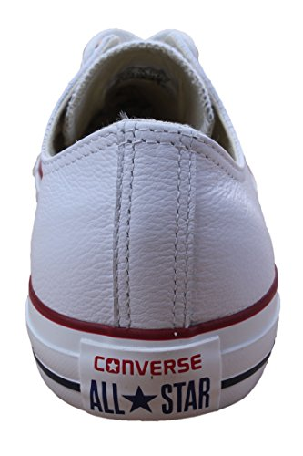 Converse Men's Chuck Taylor Leather Low Top Sneaker Optical White 9.5 M