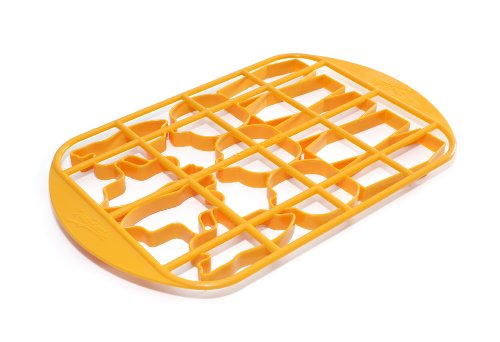 Mrs. Fields Halloween Cookie Cutter Grid with Pumpkin, Coffin, and Ghost Pattern (131)
