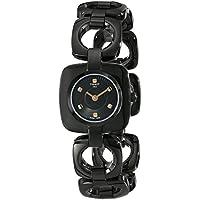 Tissot Women's T020.109.11.051.00 Odaci-T Black Dial PVD Square Watch