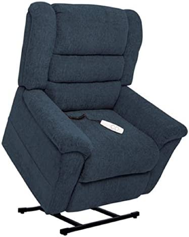 Tall Man Mega Motion MM-6200 Jupiter Tall Man Power Lift Recliner Chair. Rated for Hieghts from 5 8 to 6 2 . Weight Capacity 375 Lbs. Pocketed Coil Seating Free Curbside Delivery. Denim