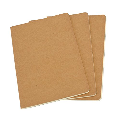 Twone Travel Journal Set With 3 Notebook Journals for Travelers - Kraft Brown Soft Cover - B5 Size - 262 mm x 190 mm - 30 Pages