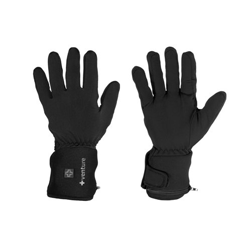 Venture Heat City Collection Heated Glove Liners (Black, - Liners Glove Battery Heated
