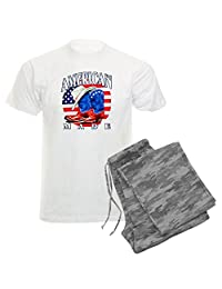 Royal Lion Men's Light Pajamas US American Flag Country Cowboy Boots