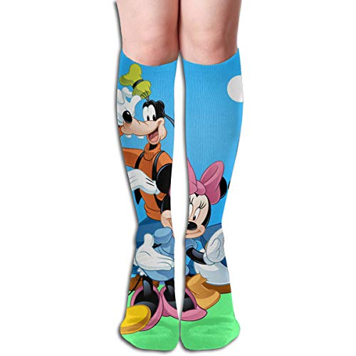 674ed1cfa CFECUP Donald Duck Mickey Mouse and Goofy Tube Stockings Women s Winter  Warm Knee High Socks Boot