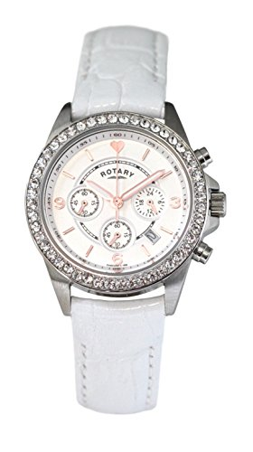 Rotary Women's Chronograph Quartz Watch with Leather Strap