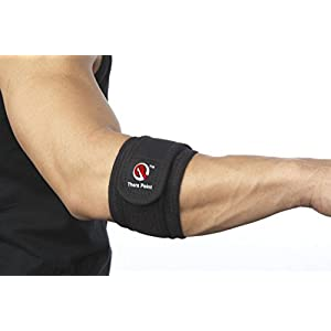 Thera Point Acupressure Elbow Brace for Tendonitis, Tennis Elbow Brace, Golfers Elbow Support Strap; Large/X-Large