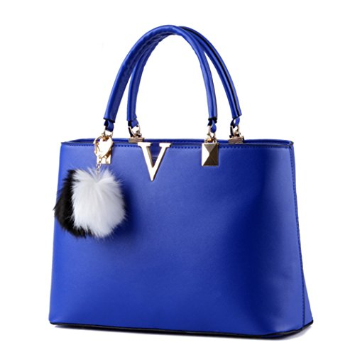 Women New Faux Royal Purse Shoulder Blue Crossbody Hot Leather Bag Messenger Satchel Ladies Handbag Tote UABCwd
