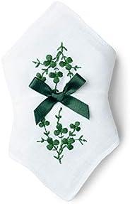 Charles Gallen Ladies Irish Linen Handkerchiefs Embroidered Shamrocks set of 2
