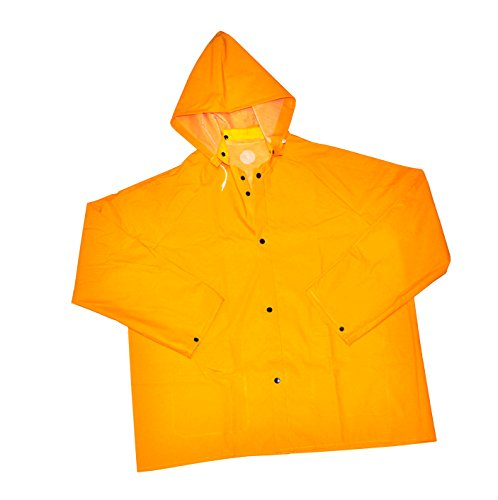 Pvc Over Polyester (G & F 331XXL Heavy Weight 35MM PVC over Polyester Rain Coat with Hood, 32