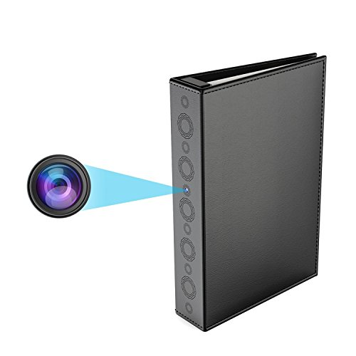 Conbrov Hidden Spy Book Camera, 720P Home Security Covert Ca