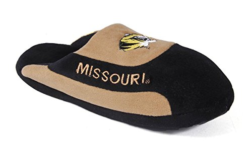 Happy Feet Mens and Womens OFFICIALLY LICENSED NCAA College Low Pro Slippers Missouri Tigers