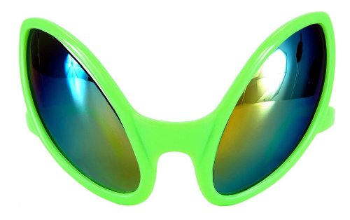 [Close Encounter Green Glasses with Rainbow Lenses by elope] (China Themed Costumes)