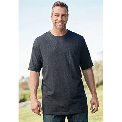 KingSize Men's Big & Tall Longer-Length Lightweight Crewneck Tee With Pocket