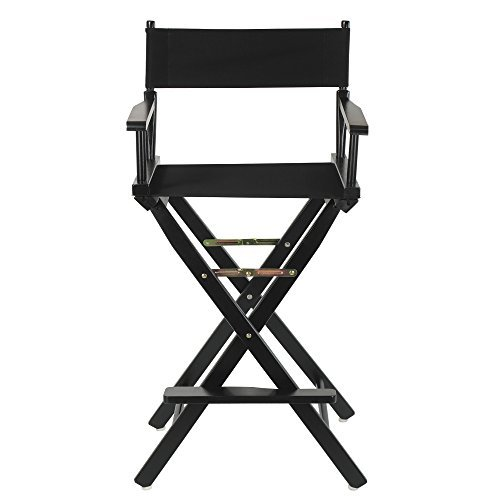 Casual Home 30'' Director's Chair Black Frame-with Black Canvas, Bar Height