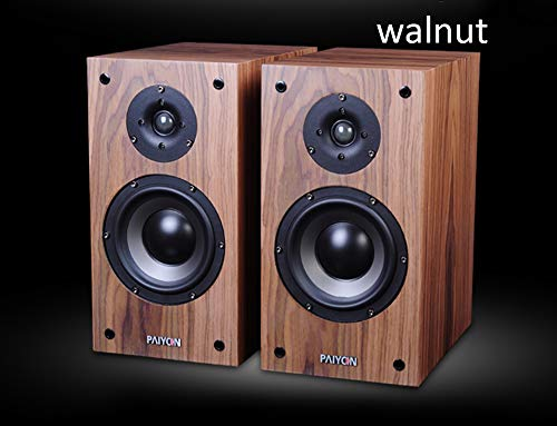 PAIYON P4-2.0 Hi-Fi Audio Bookshelf Loudspeaker Audiophile Passive Speakers Pair Walnut