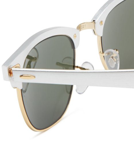 Ray CLUBMASTER Silver Argent Ban 3507 ALUMINUM RB Sonnenbrille wrpgqw4