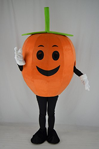 GUAITAI Pumpkin Mascot Costume Halloween Cosplay Costume Party Fancy Dress (As the pictures show / Free size)]()
