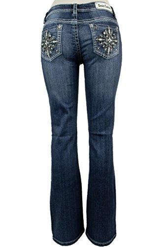 Denim Couture Women's Embroidered Starburst Pocket Boot C...