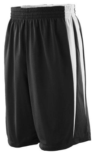 Reversible Boys Shorts - Augusta Sportswear BOYS' REVERSIBLE WICKING GAME SHORT L Black/White