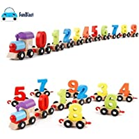 FunBlast® Wooden Digital Colourful Train, Educational Model Vehicle Toys , Vehicle Pattern 0 to 9 Number, Educational Learning Toys