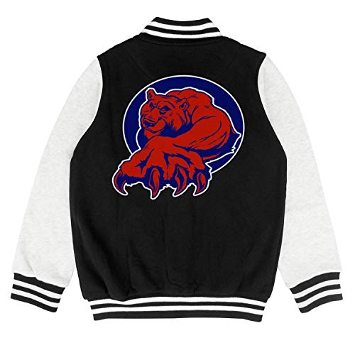 PoPBelle Kids Chicago_Funny_Cubs_Bear Girls Jacket for Girls Boys Chassic Cotton - Jacket Diamondback Lightweight