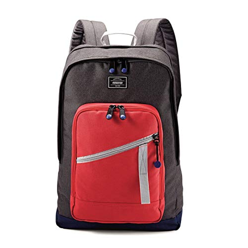 American Tourister Backpack Laptop Computer 18' KeyStone - Red/Grey