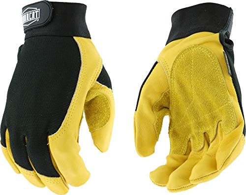 - West Chester IRONCAT 86350 Premium Grain Cowhide Leather Work Gloves: X-Large, 1 Pair