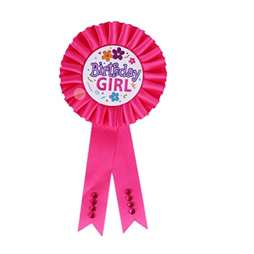 Party Favors - 1pcs Arrival Favors Birthday Girl Boy Award Ribbon Rosette Badge Pin Children 39 S Party Decor - Girl Superheroes Tutu Party Supplies Summer Ballons Cinderella Baby Amrmaid Birth