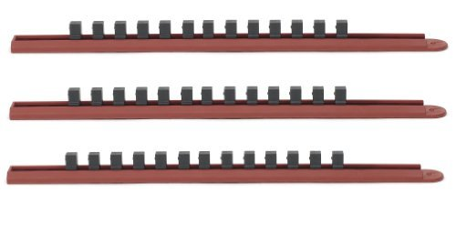 GearWrench 83103 3 Piece Slide Socket Rail System by GearWrench (Socket Rail System Slide)