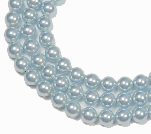 100 Swarovski Crystal Pearls 6mm Round Beads (5810). 24 Inch Loose Strand (Light - Swarovski Beads Parts Crystal