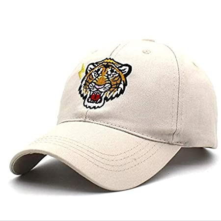 ACDOS New Embroidery Tiger Baseball Cap Hats Caps Women Men Black Trucker Hat Fashion Summer Cotton Animal Hip Hop Caps H2 ACDOS Color : Beige, Size : Free Size