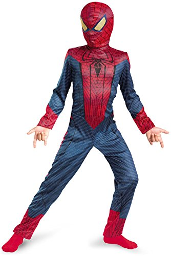 The Amazing Spider-man Movie Classic Costume, Red/Blue, Small (6)