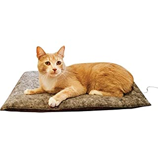 """K&H Pet Products Amazin' Kitty Pad Gray 3 Pack 20"""" x 15"""" Traps Cat Hair and Dander!"""